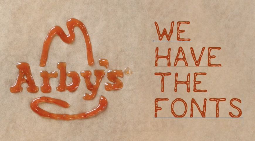 Arby's has a new font and it is Saucy_AF - Hey 760